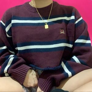 cropped vtg tomy hilfiger sweater ✧